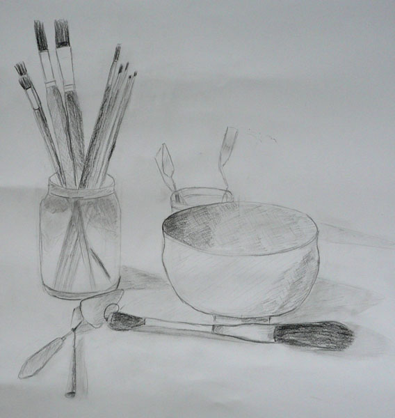 Back to basics taches et couleurs - Dessin de nature morte ...