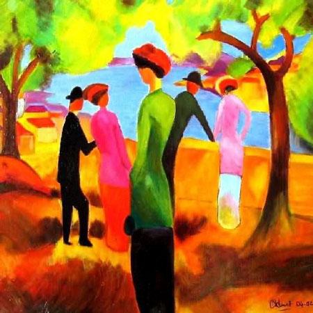 Hommage august macke taches et couleurs - Couleurs chaudes en peinture ...